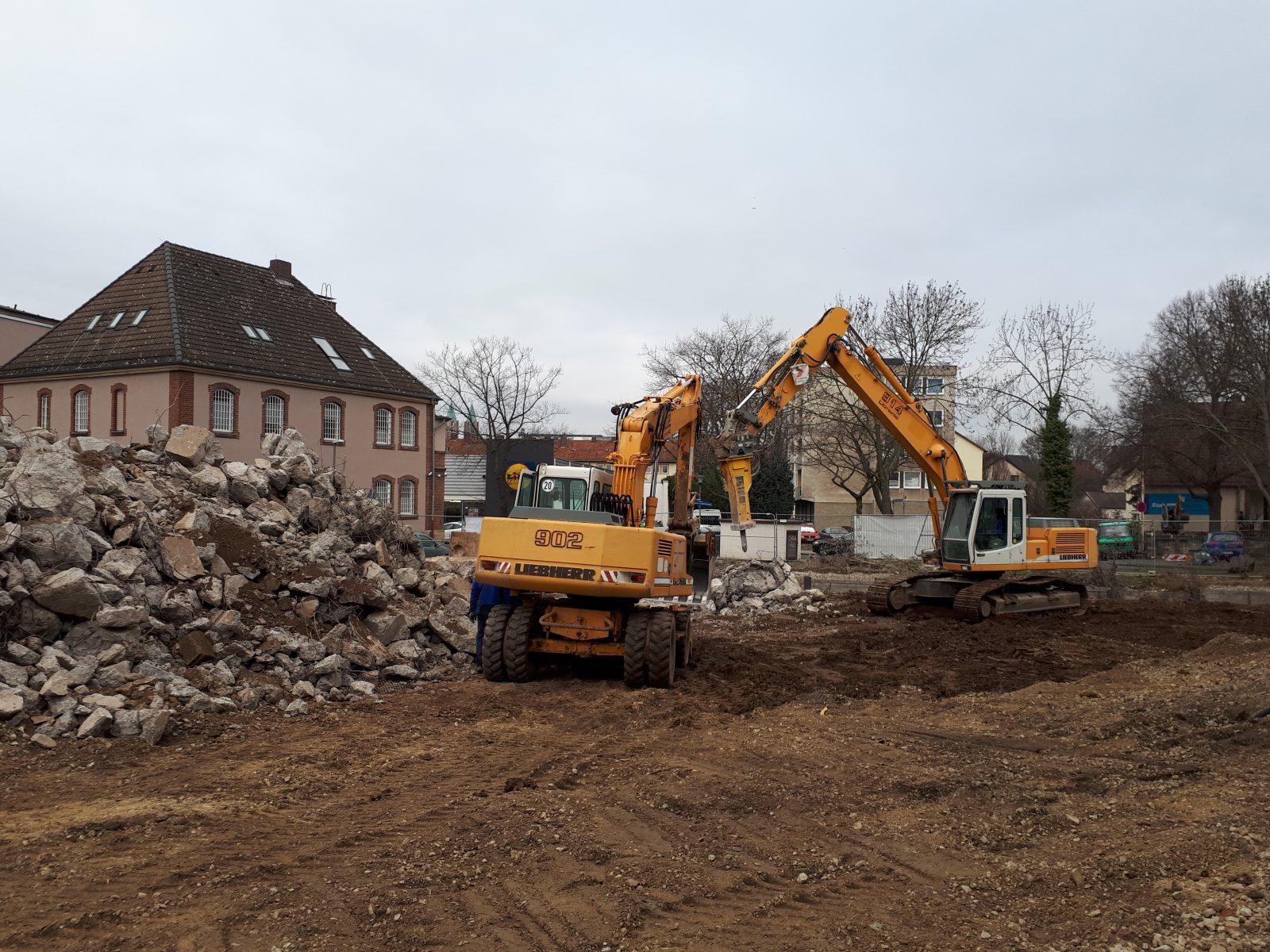Baubeginn in der Hafenstr.