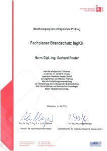 Fachplaner Brandschutz IngKH