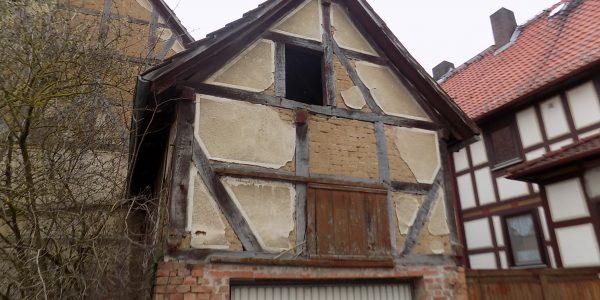 Abriss Fachwerkhaus Naumburg