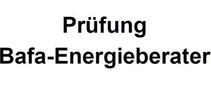 Prüfung Energieberater