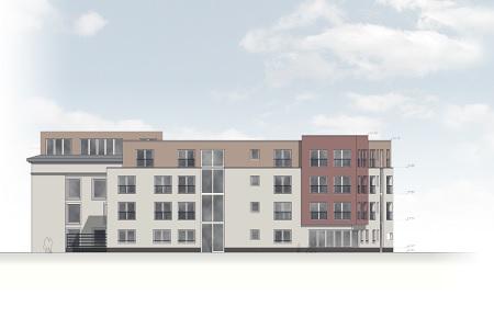 Neubau RBS-Büro in Hafenstraße Kassel mit Webcam
