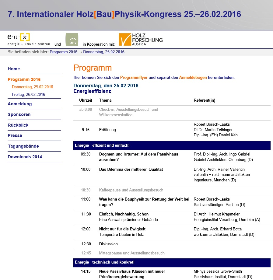 Programm Kongress