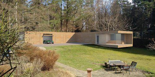 Neubau Garagengebäude mit Sauna